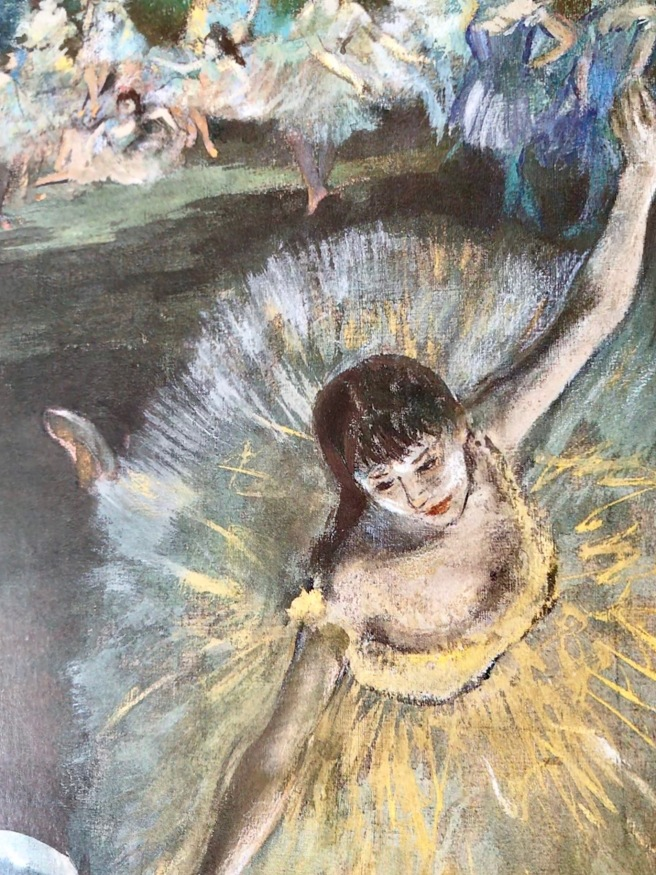 Painting Degas dancer